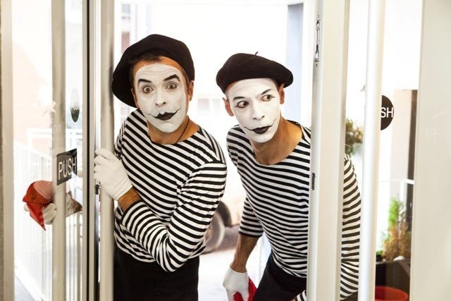 french mime artist duo hire london