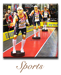 sports human living Statue company hire